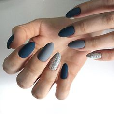 Lovely mix and match nail art design - Hair and Beauty eye makeup Ideas To Try - Nail Art Design Ideas Navy Nails, Matte Nails, Navy Nail Art, Simple Nail Designs, Nail Art Designs, Pretty Nails, Fun Nails, Finger, Nagel Gel