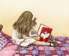 Story Time -  watercolor print by Tracy Lizotte via Etsy.