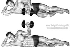 Dumbbell lying external shoulder rotation