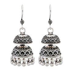 Ada Handcrafted Jewellery Sterling Silver Jhumki Earring RE-1105.28