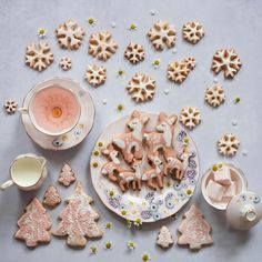 delicious , light orange christmas sugar cookies recipe cut into the shape of fawns and beautiful pastel snowflakes. A simple, decorates christmas delight! Christmas Sugar Cookie Recipe, Sugar Cookies Recipe, Christmas Cookies, Cookie Recipes, Christmas Trees, Christmas Recipes, Yummy Recipes, Snowflake Cookies, Meals In A Jar