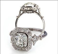 My Art deco engagement ring. I would literally kill for this ring.