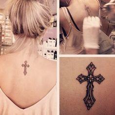 Cross Tattoos of tribal on arm