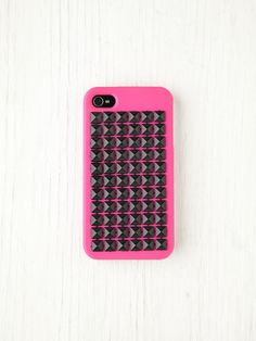 Free People Studded iPhone 4/4S Case - PINK/BLACK