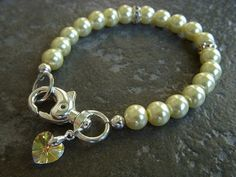 Dog Collar  Cat Collar  Pet Bling  Pearl Dog Cat by BeadzNBling, $20.00