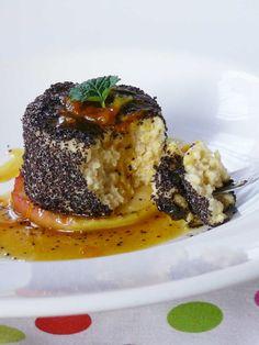 Narancsos-mákos kölespuding | szmo.hu Cukor, Bologna, Risotto, Bacon, Meat, Chicken, Ethnic Recipes, Food, Essen