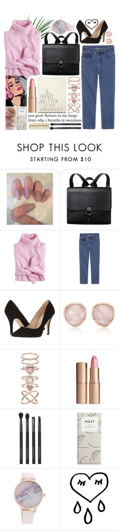 """""""🦄"""" by gsantoro ❤ liked on Polyvore featuring Monki, J.Crew, Pelle Moda, Monica Vinader, Accessorize, Charlotte Tilbury and Japonesque"""