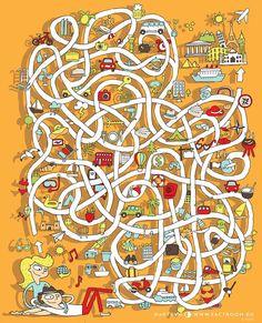 Найти верный путь в этом лабиринте смогут только самые усидчивые и внимательные Times Table Chart, Times Tables, Maze Design, Desk Calendars, Worksheets For Kids, Occupational Therapy, Adult Coloring Pages, Kids Learning, Board Games
