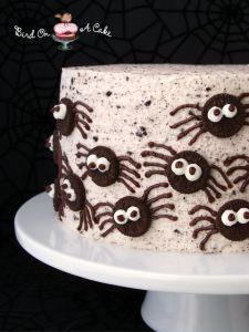 Oreo Spider Halloween Cake