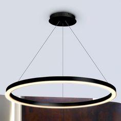 VONN Lighting VMC31640BL Tania 24-inch Modern Circular Chandelier in Black