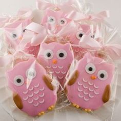 Owl Cookies. I do not like owls but those are cute!
