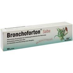 BRONCHOFORTON ointment:   Packungsinhalt: 100 g ointment PZN: 07269952 Hersteller: Zentiva Pharma GmbH Preis: 7,82 EUR inkl. 19 % MwSt.…