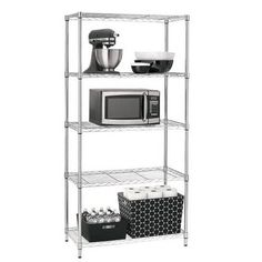 Room Essentials Adjustable 5-Tier Wire Shelving Unit for $34.99 + Free Store Pickup:  http://www.dealmore.com/forums/forum.php?mod=viewthread&tid=1813&highlight=Room%2BEssentials
