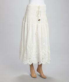 Look at this #zulilyfind! Cream Linen-Blend Convertible Skirt by Pretty Angel #zulilyfinds