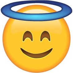 Smiling Face with Halo - Let everyone know you're being as angelic as can be with this emoji wearing a halo.