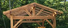 Timber Frame Outdoor Structures | Timber Framed Outdoor Kitchen Roof