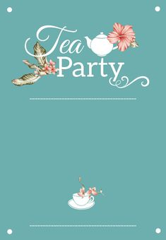 Bridal Shower Tea Party - Free Bridal Shower Invitation Template | Greetings Island