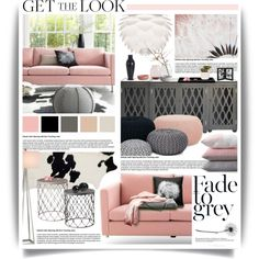 Dusty Pink & Grey Tones by hmb213 on Polyvore featuring interior, interiors, interior design, home, home decor, interior decorating, Worlds Away, Arper, Vita and Currey & Company