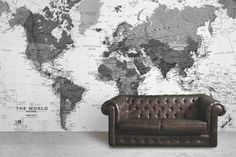 Black and White Detailed Map Mural @ Mura Innovations Ltd. http://www.muralswallpaper.co.uk