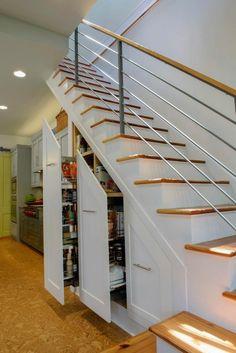 Stairwell Storage interior , creative interior design under stairs ideas : dining