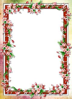 Floral border design image PNG and PSD Front Page Design, Design Page, Page Borders Design, Boarder Designs, Frame Border Design, Photo Frame Design, Border Ideas, Flower Border Png, Floral Border