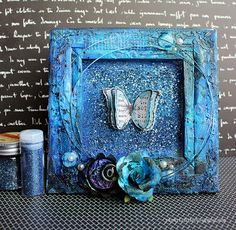 Riikka Kovasin - Paperiliitin: Shimmering butterly - Ustream project