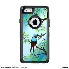 Blue Bird in Trees O