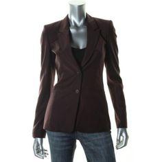 HUGO-BOSS-NEW-Juicela-Purple-Wool-Long-Sleeves-Two-Button-Blazer-Jacket-0-BHFO