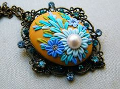 The Queen's Ornament - Polymer Clay Pendant