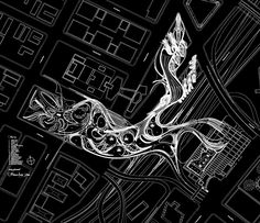 Architectural Drawing 人人小组 - Xuberance by Steven Ma with Hernan Diaz Alonso Landscape Architecture Portfolio, Parametric Architecture, Parametric Design, Organic Architecture, Futuristic Architecture, Architecture Plan, Architecture Mapping, Master Plan, Urban Planning