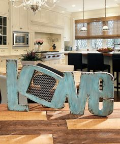 Another great find on #zulily! 'Love' Wood Fan #zulilyfinds