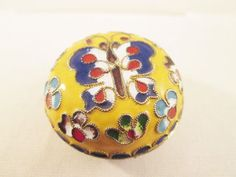 Cloisonne Enamel Butterfly Trinket by VintageBADTIQUE on Etsy