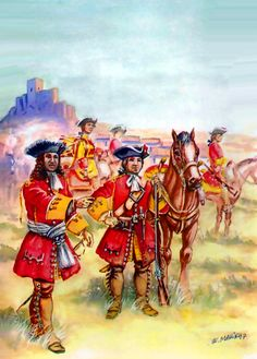 Irish Wild Geese regiment at the Battle of Almansa, War of the Spanish Succession