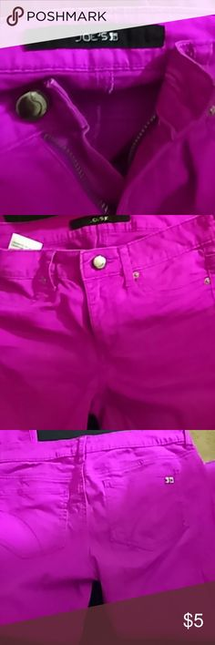 Joes reddish fuschia jeans Washed out red fuschia Jean size 12 joes Bottoms Jeans