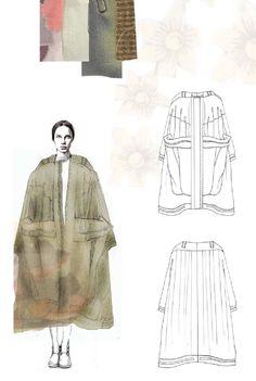 Fashion Sketchbook - fashion illustration; outwear design; fashion portfolio // Emma Berry