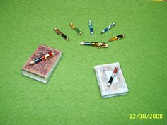 miniature pens out of beads