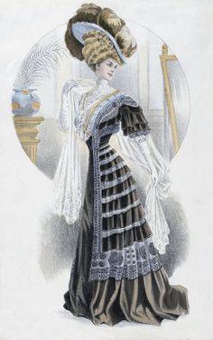 1900s Fashion Plate ~ LÁMINAS VINTAGE,ANTIGUAS,RETRO Y POR EL ESTILO.... (pág. 375) | Aprender manualidades es facilisimo.com