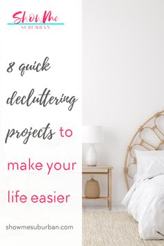 Little pockets of clutter in my house were stressing me out and making my life harder. These quick and easy decluttering projects helped make my life at home easier and less stressful. I decluttered important parts of my home that were making me waste time and energy. I'm so glad I decluttered! Clean Refrigerator, Refrigerator Organization, Kitchen Organization, Organization Hacks, Organized Bedroom, Organized Kitchen, Bathroom Cleaning Hacks, Laundry Storage, Declutter Your Home