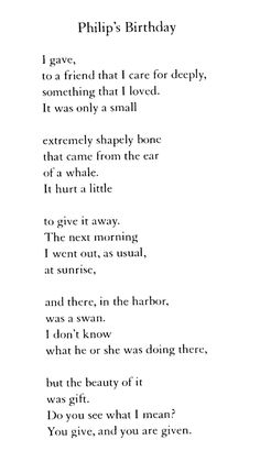 Poem Bouquet: Mary Oliver