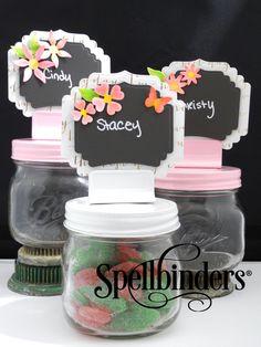 Chalkboard Wedding Place Cards by Jennifer Ingle   Spellbinders #wedding #diy #placecards #nametags #shower #gardenparty