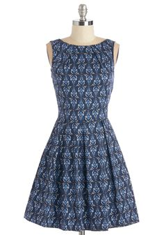 Luck Be a Lady Dress in Deco Flowers