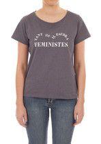T-shirt Feministes Bleu Gris