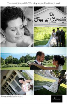 wedding photo mackinac island