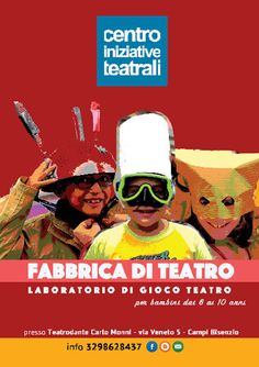 Locandina corso Fabbrica Teatro bambini  • Sonia Squilloni Graphic Designer