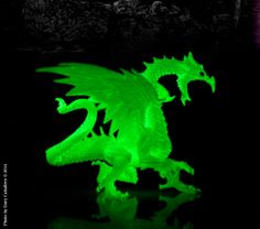 """This incredible #glowinthedark #dragon has a spellbinding effect when in """"glow"""" mode! This was posted on our facebook wall by a fan. You can order this here at www.safariltd.com"""