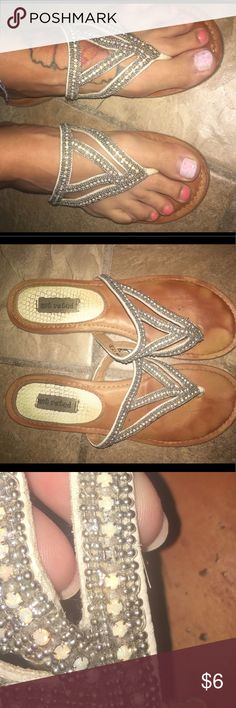 ▫️ Not Rated sandal, size 7. ▫️ Not Rated sandal, size 7. Few stones missing, pictured, can't tell when on! Not Rated Shoes