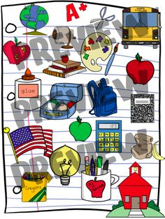 NEW clipart that you can use on your blogs, in your TpT or TN stores, crafts, classrooms, etc....No license required!  Black and white images included too!!!!!!!!