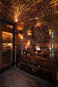 So awesome! - Cigar Rooms - Laguna Hills Country French Manor - mediterranean - wine cellar - orange county - GRADY-O-GRADY Construction  Development, Inc. | Check out more ideas for Cigar Rooms at DECOPINS.COM | #cigarrooms #cigar #cigars #mancaves #masterbathrooms #bedroom #bedrooms #bathroom #bathrooms #homedecor #beds #interiordesign #home #homedecoration #design