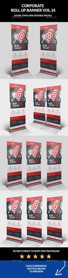 ▧ [NULLED]◫ Corporate Business Roll Up Banner Ad Advert Advertisement Banner Signage Banner Template Banners Cool Business Cards, Corporate Business, Letterhead Template, Brochure Template, Graphic Design Templates, Print Templates, Digital Signage Displays, Illustrator, Pose