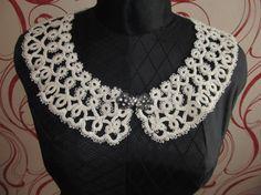 The collar crochet frivolite by HandmadeShoping on Etsy, $40.00